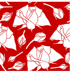 roses pattern seamless vector image vector image