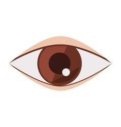 Silhouette eye brown flat icon vector