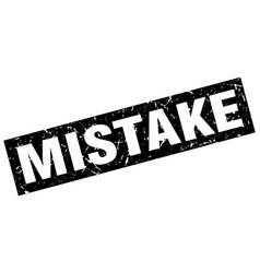 Square grunge black mistake stamp vector