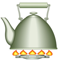 Teapot on burner vector image