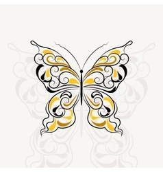 Vintage pattern in shape of a butterfly vector