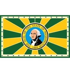 Washington state sun rays banner vector