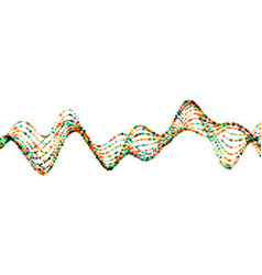 waves with particles vector image vector image