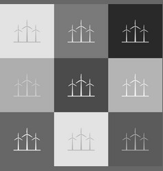 wind turbines sign grayscale version of vector image vector image