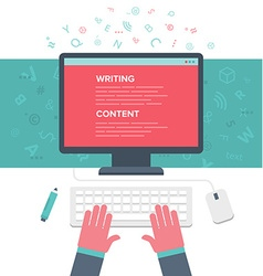 Writing an Article vector image vector image