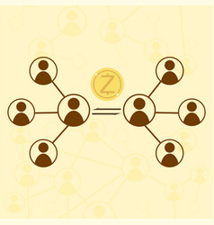 Zcash cryptocurrency concept vector