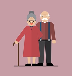 Elderly senior age couple vector