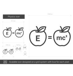 Physics line icon vector