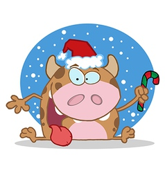 Happy christmas calf vector