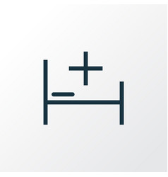 Bed outline symbol premium quality isolated tent vector