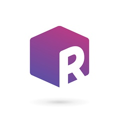 Letter r cube logo icon design template elements vector