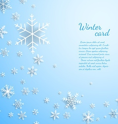 Christmas card with snowflakes vector