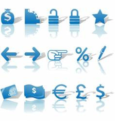 Finance website icons vector