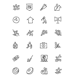 Sports hand drawn doodle icons 7 vector