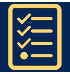 Checklist icon from business bicolor set vector
