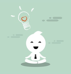 Abstract character businessman practice meditation vector