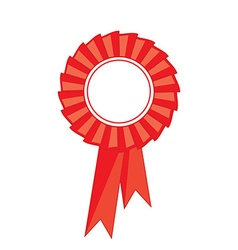 Red award ribbon vector