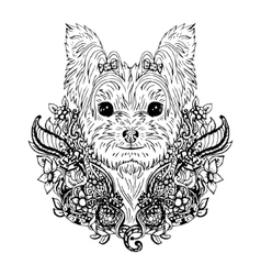 Yorkshire terrier graphic dog abstract vector