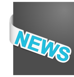 Left side sign news vector