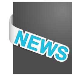 left side sign news vector image