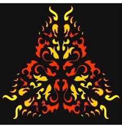 Fire khokhloma native ornament vector