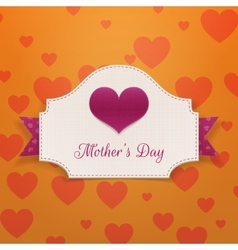 Mothers day greeting banner with big heart vector