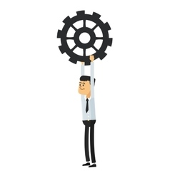 Man with gear icon vector