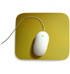 White computer mouse vector