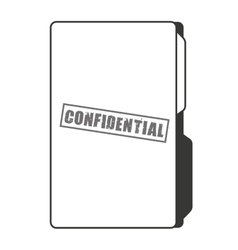 confidential folder isolated icon design vector image