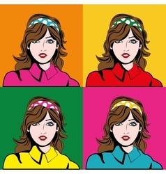 Girl cartoon icon pop art design graphic vector