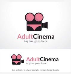 adult cinema logo template design vector image vector image