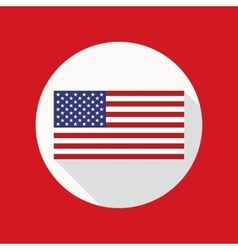 American Flag Flat Icon vector image