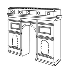 Arc de triomphe in paris arch building single vector