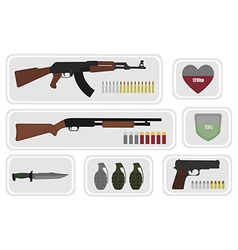 Army game resource set No outline vector image