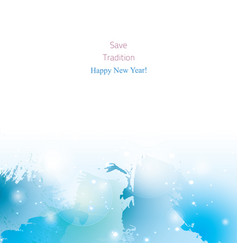 background-blue-new-year vector image