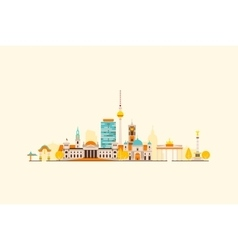 Berlin abstract skyline vector image