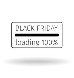 black friday leaflet progress loading bar vector image vector image