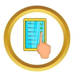 Checklist with hand icon vector