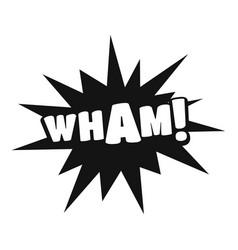 comic boom wham icon simple black style vector image