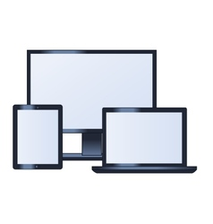 Computer monitor laptop and tablet vector image