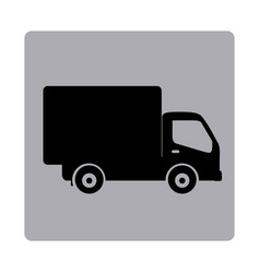 contour emblem delivery car icon vector image