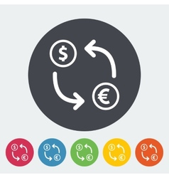 Currency exchange single flat icon vector image vector image