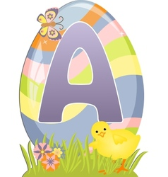 Cute initial letter A vector image vector image