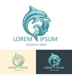 Dolphin logo template vector