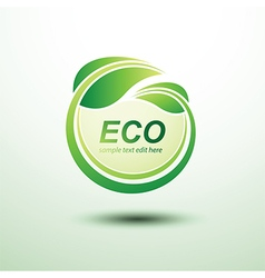 Eco labels4 vector image vector image