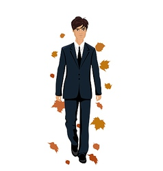 elegant autumn man vector image