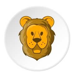 Face of a lion icon cartoon style vector image vector image