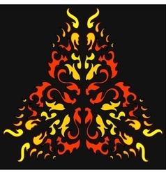Fire Khokhloma Native Ornament vector image vector image