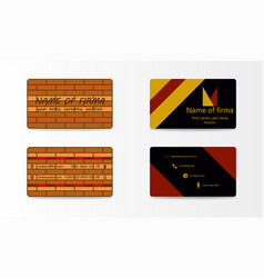 modern creative and trending business cards set vector image