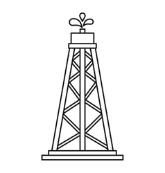 Oil resources icon outline style vector